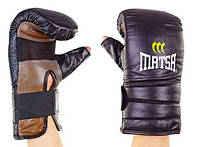Снарядные перчатки кожаные MATSA(L-XL) с открытым пальцем