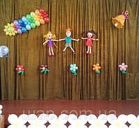 Оформление воздушными шарами последнего звонка для четверокласников