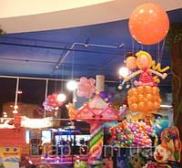 Оформление воздушными шариками детского центра в ТЦ