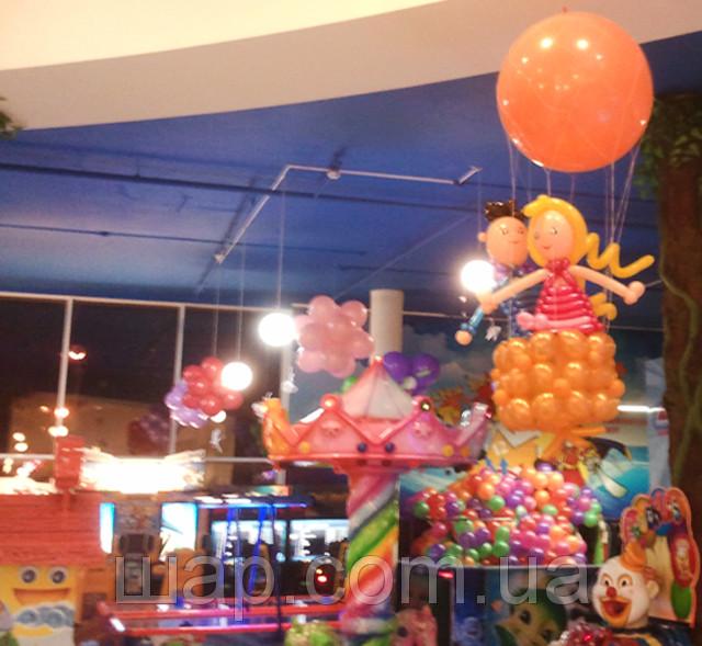 Оформление воздушными шариками детского центра в ТЦ - MORE шаров в Броварах