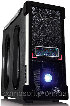 Компьютерный корпус GOLDEN FIELD 7225B SP,  ATX/Game, без БП