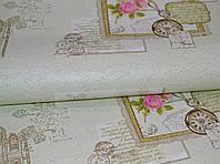 Обои на стену, виниловые, зеленые, роза, цветы, B43,4 Поэма С945-04Х, супер-мойка, 0.53*10м