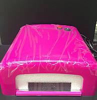 Розовая УФ лампа 36W c таймером, розовая