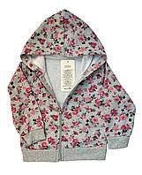 Кофта детская на молнии, с капюшоном для. девочек. размеры 1-4 года