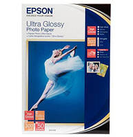 Фотобумага EPSON Ultra Glossy Photo Paper, глянцевая 300g/m2, 10х15, 50л (C13S041943)