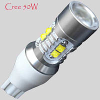 Светодиодная автомобильная лампа SeeLight с цоколем T15(W16W)-Cree-50W-в фонарь заднего хода