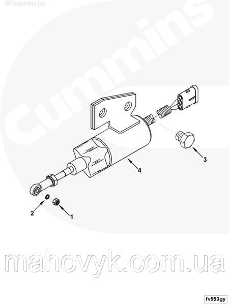 3991624 Электроклапан (глушилка) Cummins: продажа, цена в
