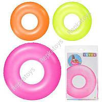 Круг INTEX неоновый, 3 цвета, 91 см, в пакете (ОПТОМ) 59262