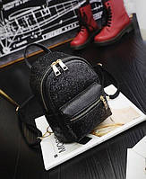 Мини рюкзак с блестками Черный