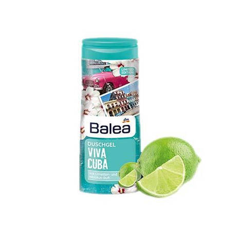 Гель для душа Balea Viva Cuba лайм и цветок гибискуса 300мл, фото 2