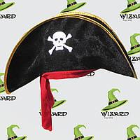 Шляпа Пирата велюр с повязкой