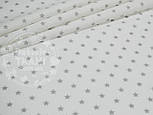 Лоскут ткани №802а с мелкими звёздами 8 мм на белом фоне,размером 40*80 см, фото 2