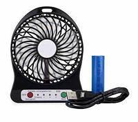 Настольный вентилятор работающий от аккумулятора bailong от сети или USB. Вентилятор в машину.