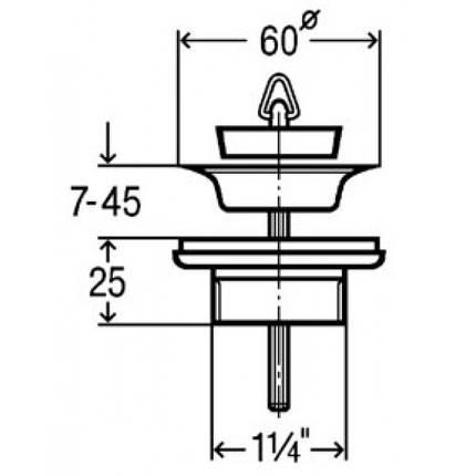 Клапан универсальный 11/4 Головка ф32), пласт. VIEGA GmbH, фото 2