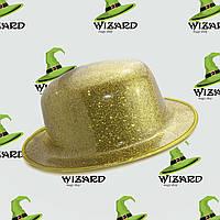 Шляпа Котелок блестящая