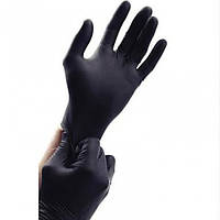 Перчатки нитриловые нестерильные неопудренные черные S, (разм.6-7) 100шт/уп