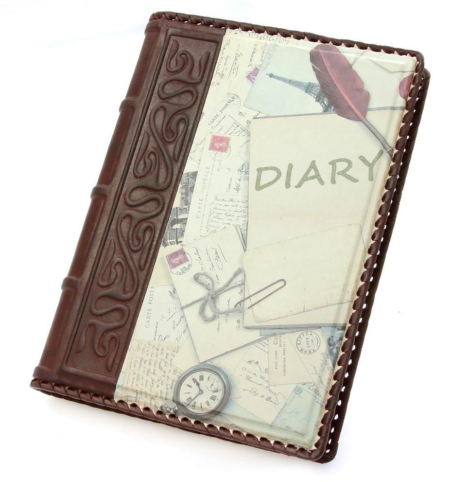 """Ежедневник кожаный А5 """"Diary"""""""