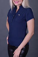 Блуза женская, шифон, короткий рукав