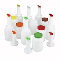 Бутылка с гейзером для миксов 2 л. белая с красным Winco