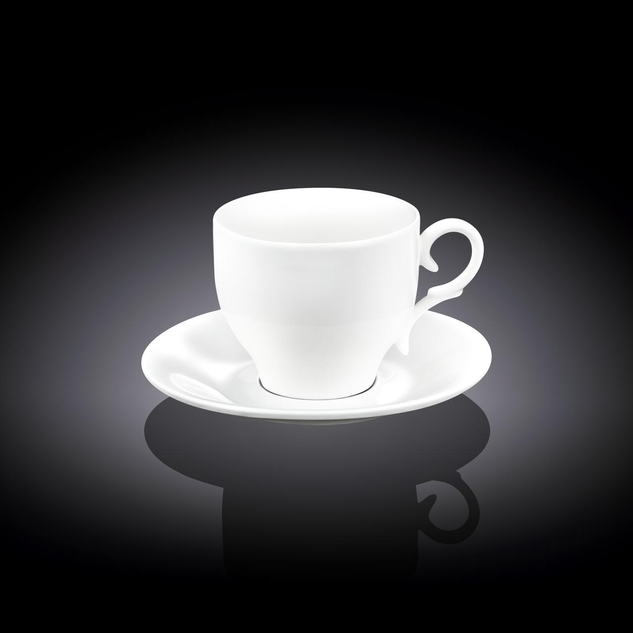 Чашка фарфоровая для кофе+блюдце WILMAX wl-993103 90 мл