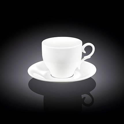 Чашка фарфоровая для кофе+блюдце WILMAX wl-993103 90 мл, фото 2