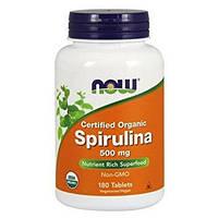 NOW Спирулина Spirulina 500 mg organic500 tabs
