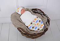 """Пеленка-кокон для новорожденного на липучках Half """"Сафари"""" от 3 до 6 мес"""