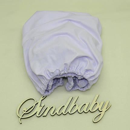 Детская простынь на резинке в люльку, Фиалка 72х72 см, фото 2