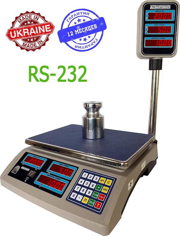 Весы торговые ВТНЕ/2-30Т2RS - Компания УкрВесы [Ukrvesi] в Днепре