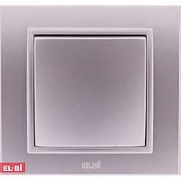 Выключатель EL-BI Zena Silverline металлик (механизм)