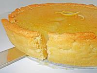 Лимонный пирог с фисташками