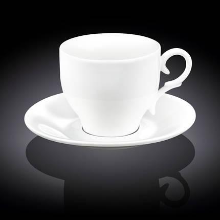 Чашка фарфоровая для чая+блюдце 330 мл WILMAX wl-993105, фото 2