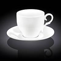 Чашка фарфоровая для чая+блюдце 330 мл WILMAX wl-993105