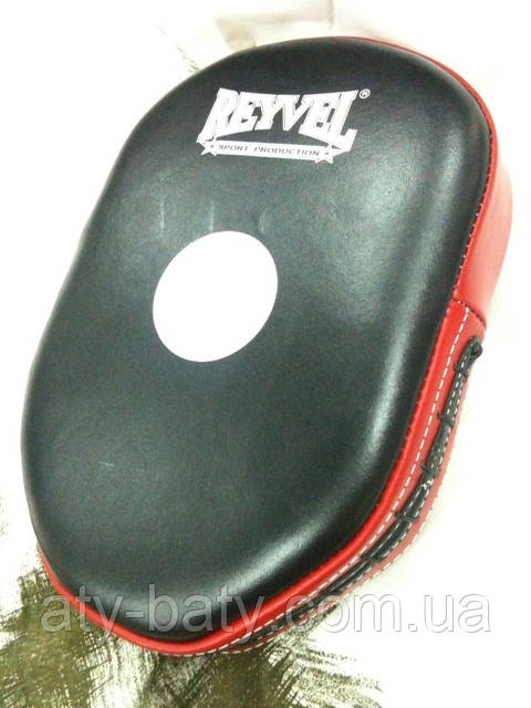 Лапа боксерская универсальная REYVEL, кож.
