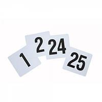 Карточка-номер банкетный 10х10 см. 1-25 номер
