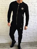 Спортивный костюм Philipp Plein D1681 бомбер черный