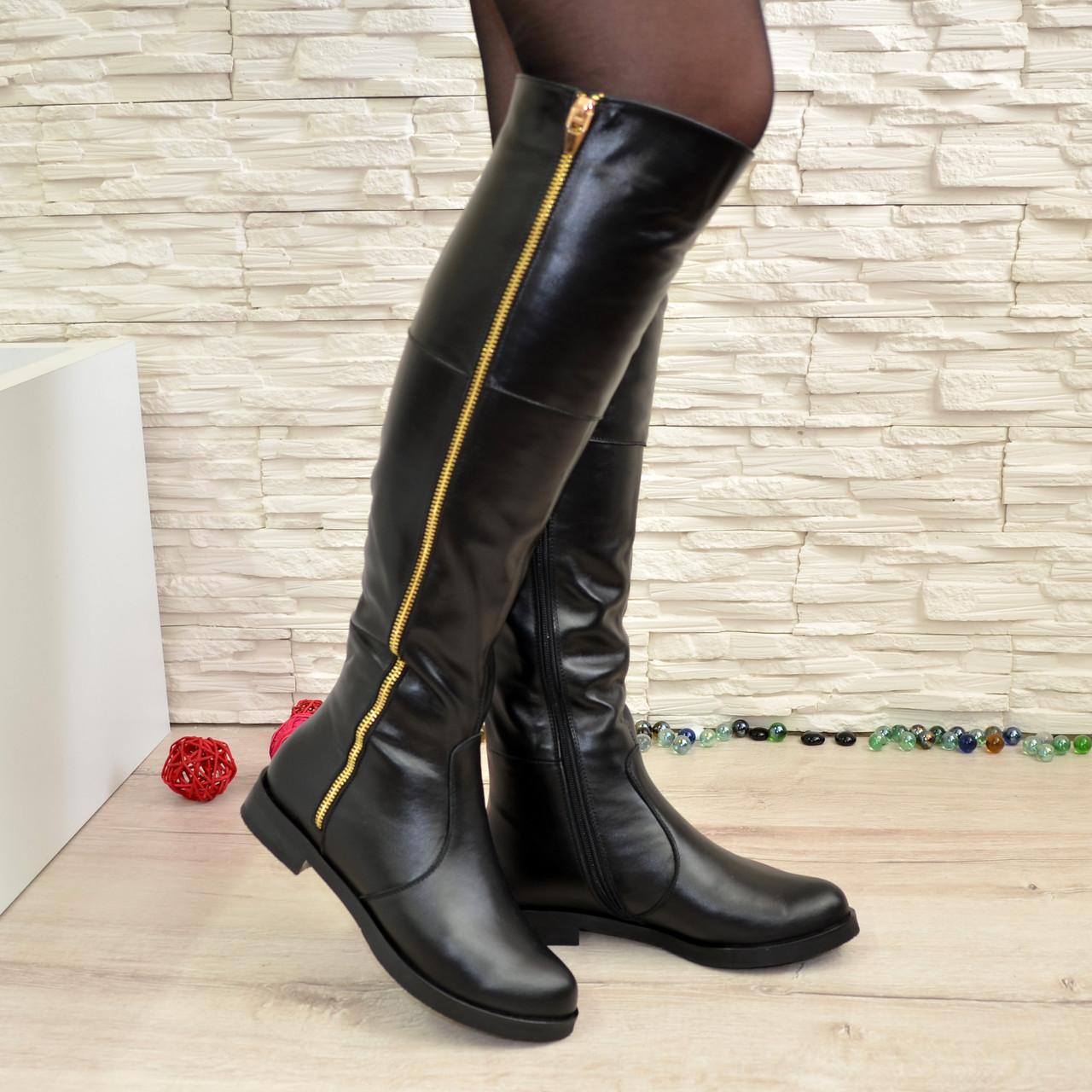 c8d4d07b6 Ботфорты женские зимние кожаные, декорированы молнией: продажа, цена ...