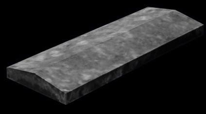 """Парапет на забор с полимерным покрытием """"Гранит""""  1013х450"""