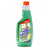 Средство для мытья стекол сменный (зеленый),500 мл Мистер Мускул