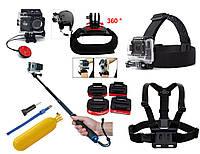 Набор аксессуаров N6 для экшн камер SJCAM, GoPro, Xiaomi, Atrix, Airon, EKEN