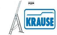 Трехсекционные лестницы KRAUSE 3х10  Раздвижные лестницы алюминиевые универсальные Краузе