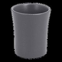 """Чашка без ручки фарфоровая 90 мл. """"RAK"""" серая"""