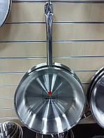 Сковорода нержавеющая сталь 36х7,5 см. без покрытия Kapp
