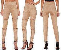 Потрясающие женские джинсы со шнуровкой эксклюзивные дизайнерские в 3 цветах