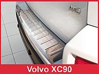 Накладка на бампер с загибом и ребрами Volvo XC90