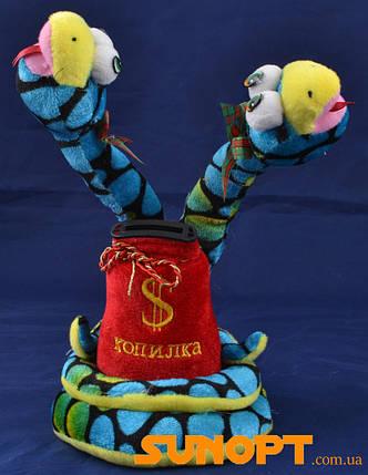 Мягкая игрушка-копилка Змея (Озвученная) 25см №1253-62-1, фото 2