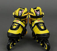 "Ролики 8903 ""L"" размер 39-42 Best Rollers цвет-желтый"