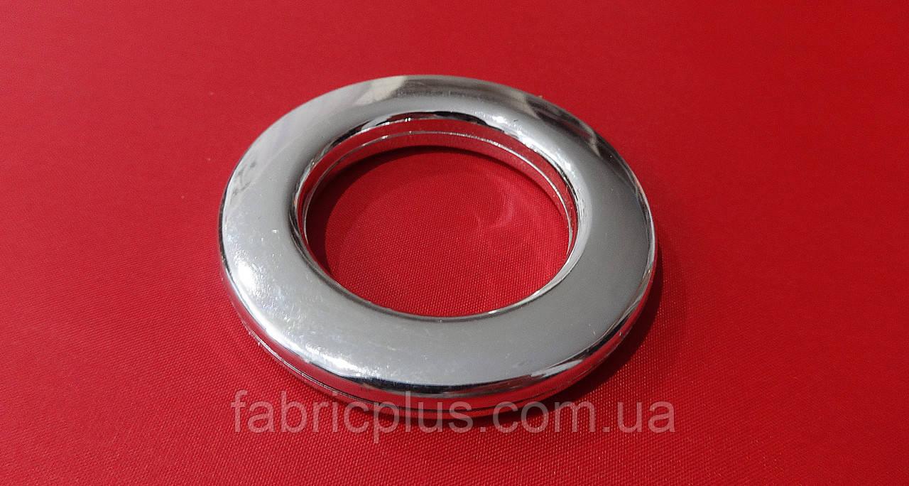 Люверс  декор. серебро  ф = 6,0х4,0 см