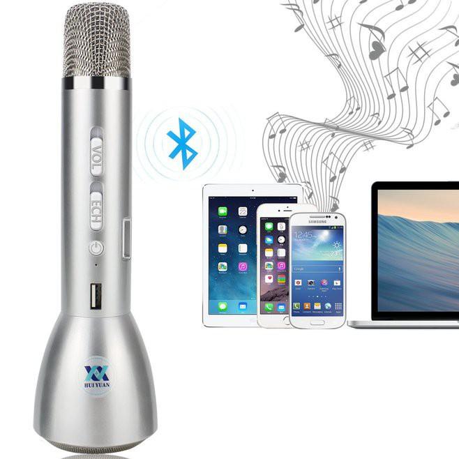 Микрофон для караоке Bluetooth со встроенным динамиком K068 - беспроводной микрофон