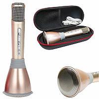 Караоке микрофон Bluetooth со встроенным динамиком K068 - беспроводной микрофон
